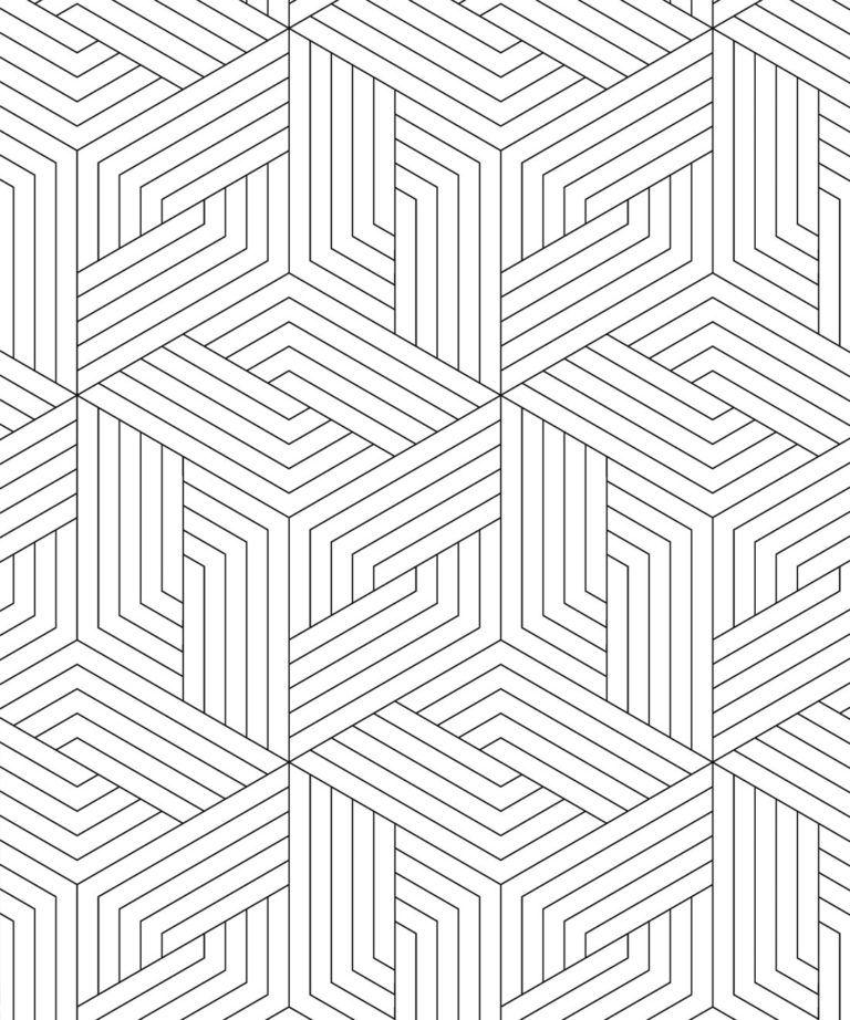 Geometric Illusions Wallpaper Subtle White Milton King Uk