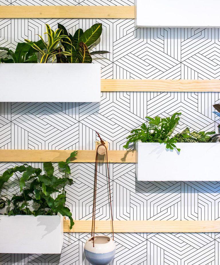 Black Lined Geometric Illusions Wallpaper • Geometric Wallpaper • Milton & King