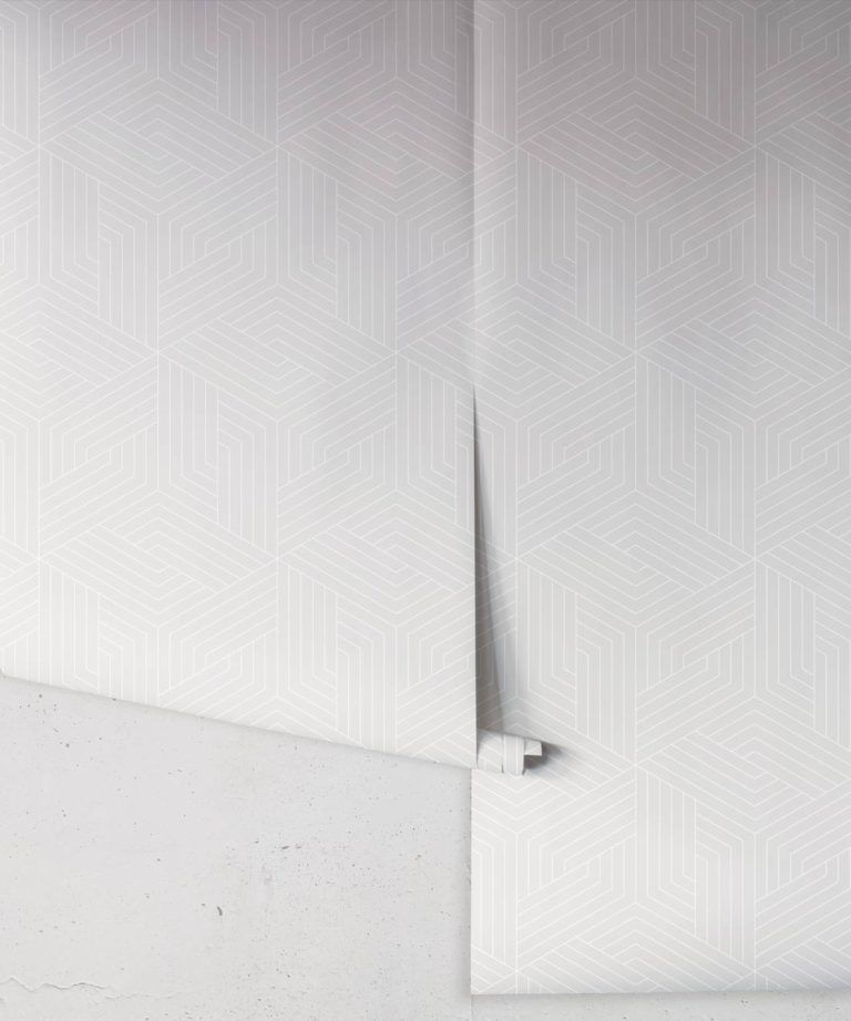 Warm Grey Geometric Illusions Wallpaper • Geometric Wallpaper • Milton & King