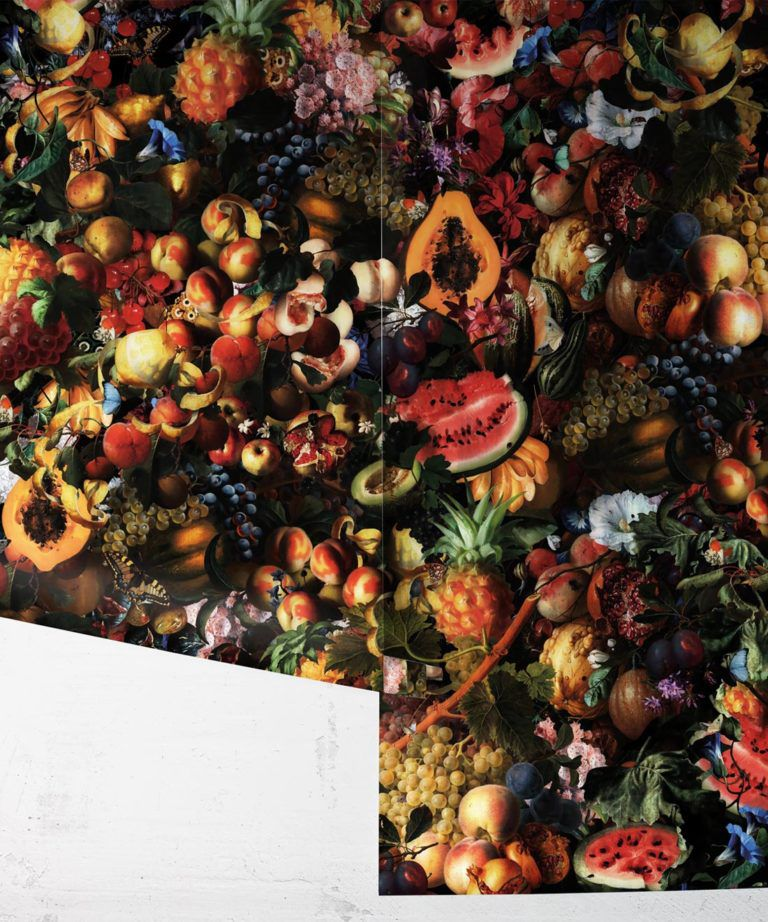 Fruitta Vivid Wallpaper • Kitchen Wallpaper • Floral Wallpaper • Milton & King