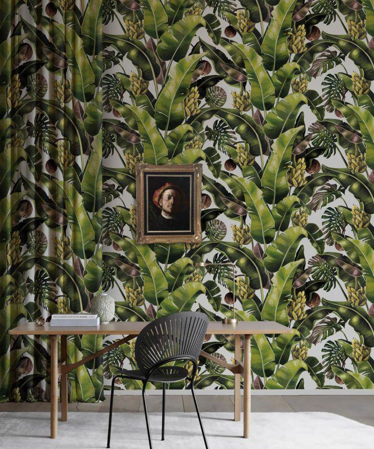 Kingdom Palm Day • Tropical Leaf Wallpaper • Milton & King