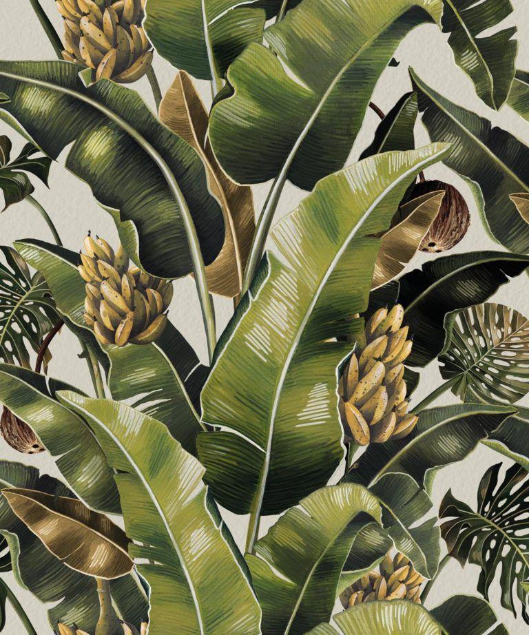 Kingdom Palm Del Rio • Tropical Leaf Wallpaper • Milton & King