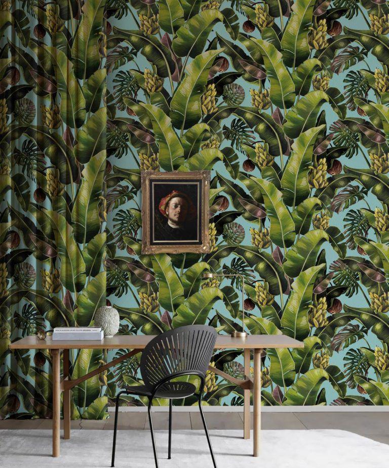 Kingdom Palm Sky • Tropical Leaf Wallpaper • Milton & King