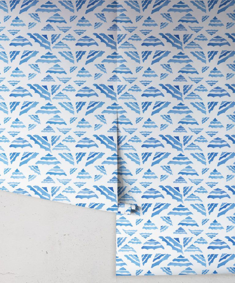 La Fontelina • Blue Inky Wallpaper • Milton & King UK