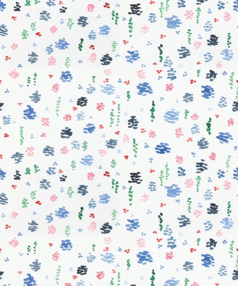 Spring Garden • Blue Floral Wallpaper • Milton & King UK
