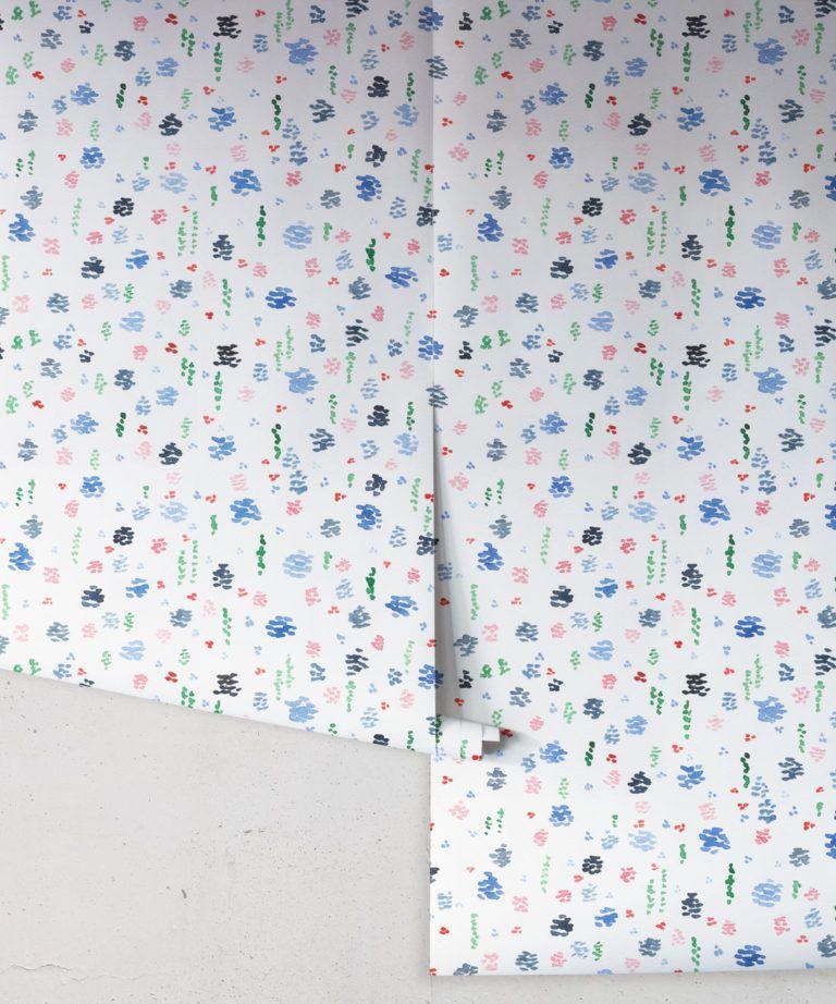 Spring Garden • Abstract Inky Floral Wallpaper • Georgia MacMillan • Kids Wallpaper • Nursery Wallpaper • Milton & King UK