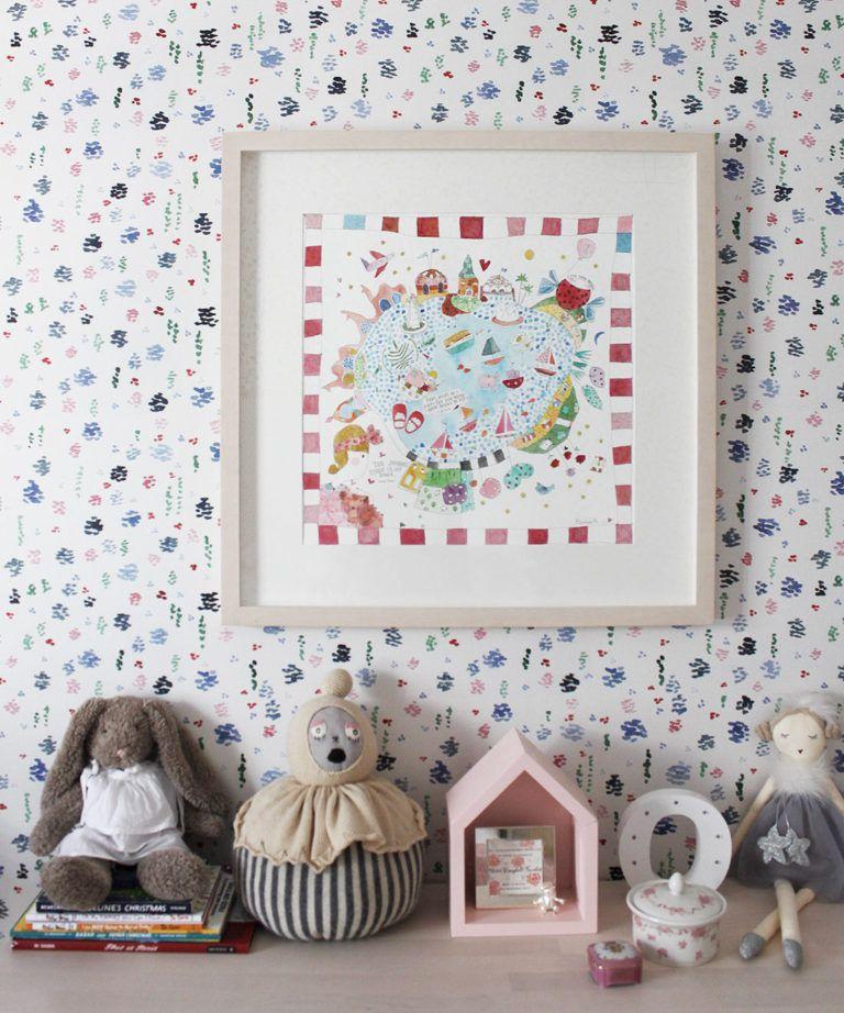 Spring Garden • Abstract Inky Floral Wallpaper • Georgia MacMillan • Milton & King United Kingdom