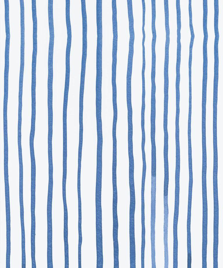 Zighy Stripes •Striped Wallpaper •Blue Stripes • Milton & King UK • Georgia MacMillan