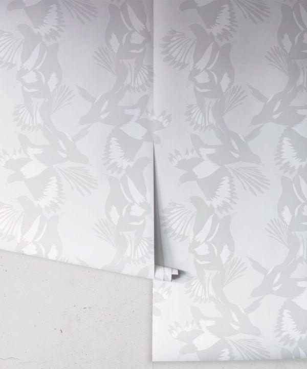 Magpie Wallpaper • Milton & King • Kingdom Home • Bird Wallpaper • Bondi Roll