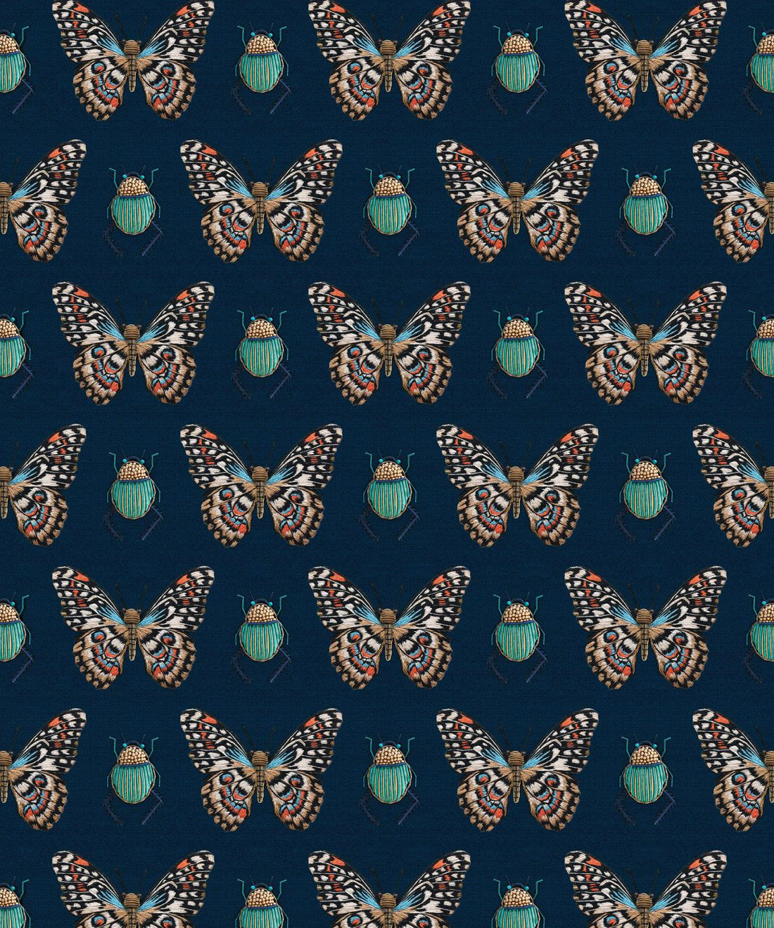 Beetle & Butterfly Wallpaper