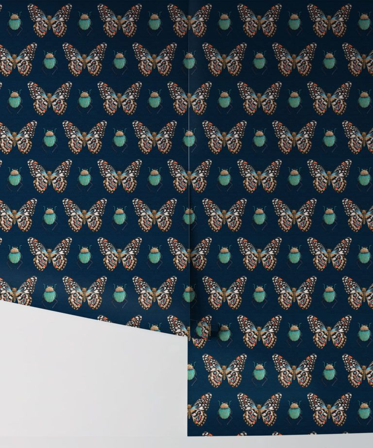 Bug & Butterfly Wallpaper • Milton & King USA • Roll