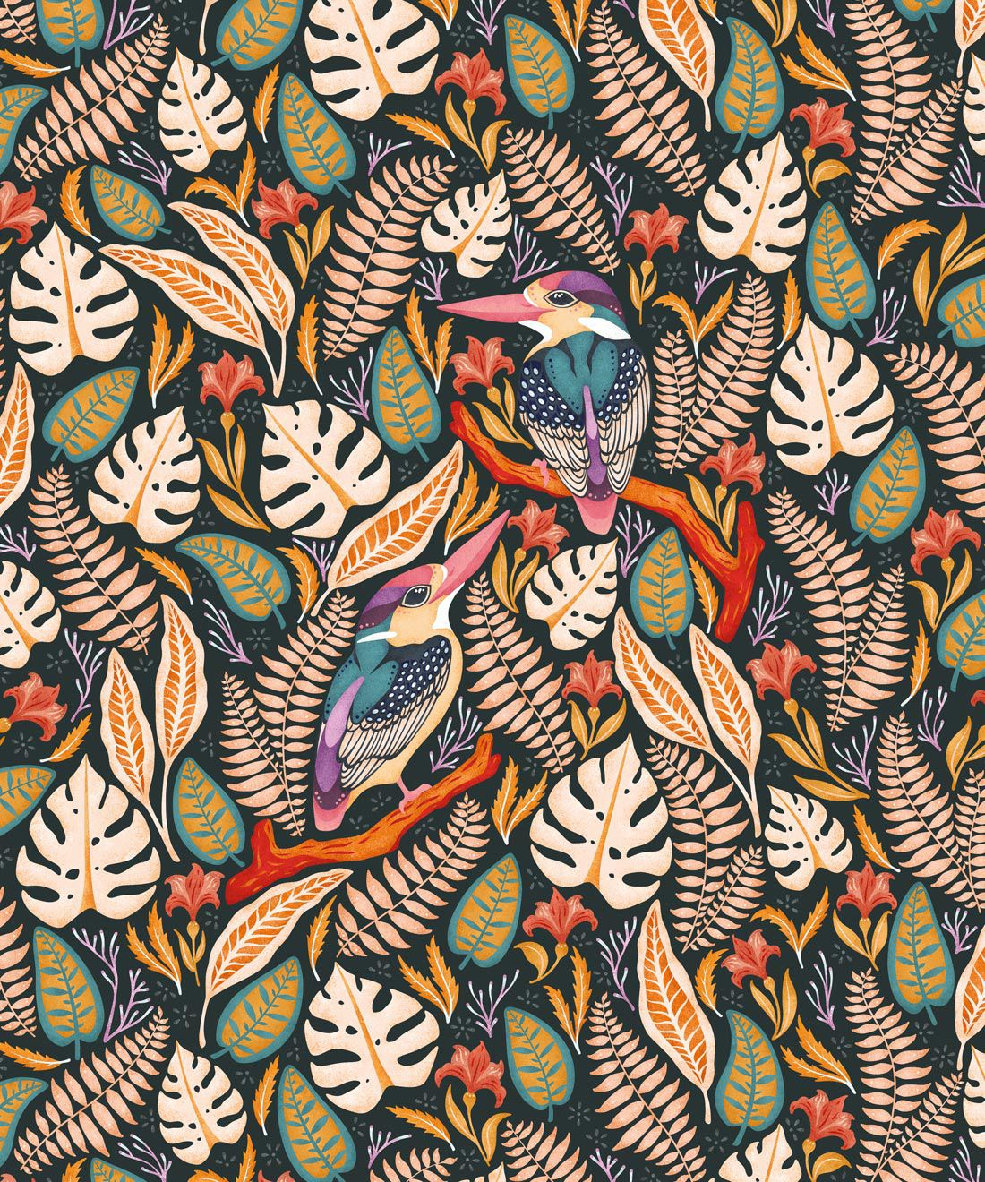 Kingfisher Wallpaper • Bird Wallpaper •Autumn Color Wallpaper