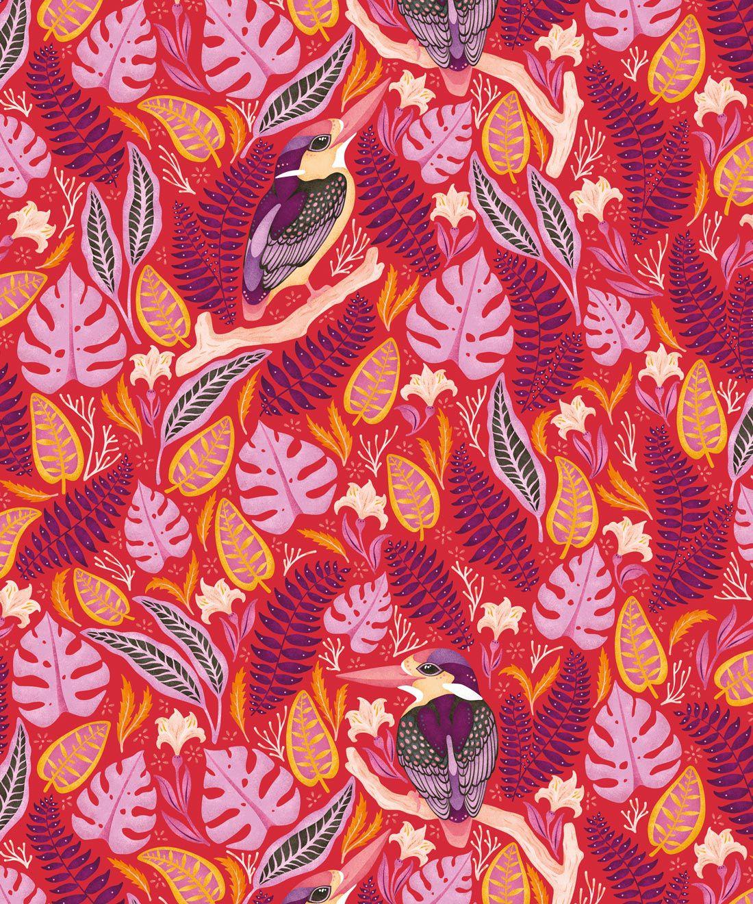 Kingfisher Wallpaper • Bird Wallpaper • Red Wallpaper