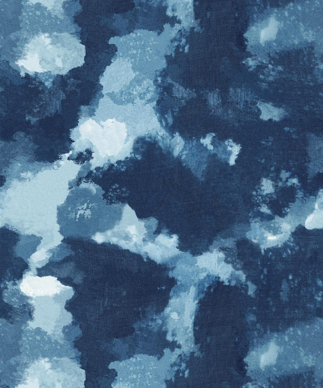 Autumn Path Wallpaper Indigo Blue • Shibori Abstract
