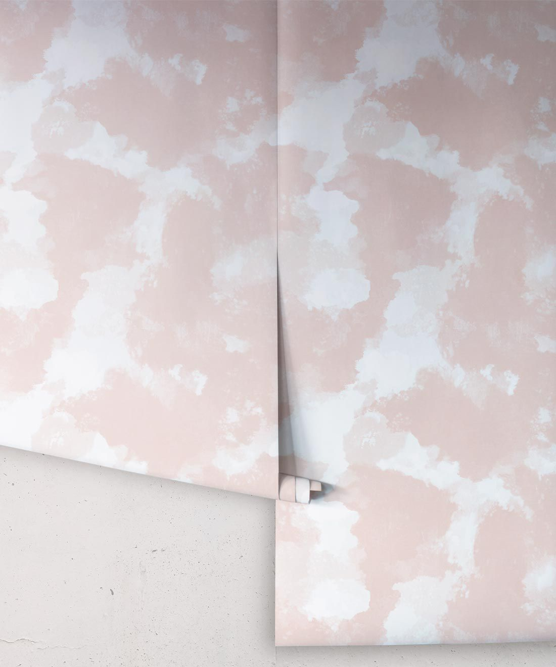 Autumn Path Wallpaper Peach • Shibori Abstract • Swatch