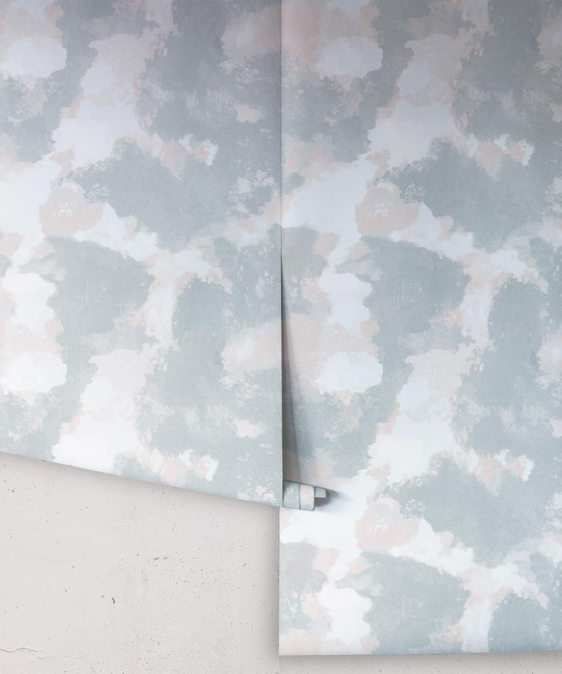 Autumn Path Wallpaper Sage • Shibori Abstract • Rolls