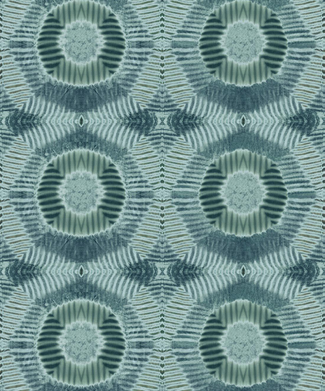 Aztec Suns Wallpaper Sage • Shibori Geometric • Swatch