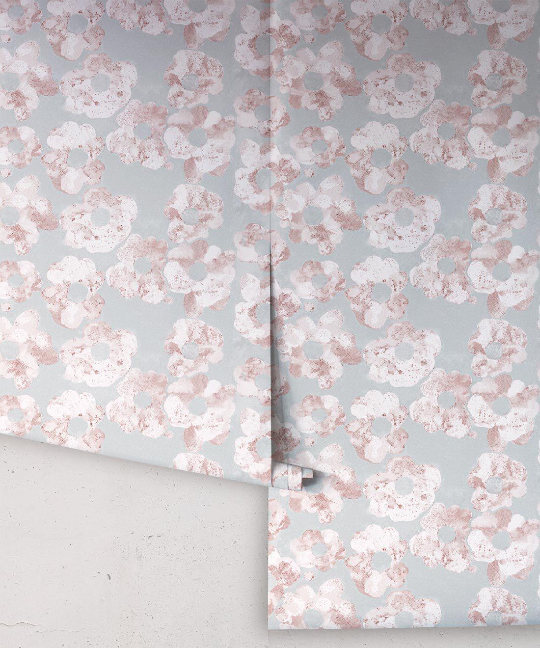 Cherry Blossom Wallpaper • Shibori Floral • Rolls Sage