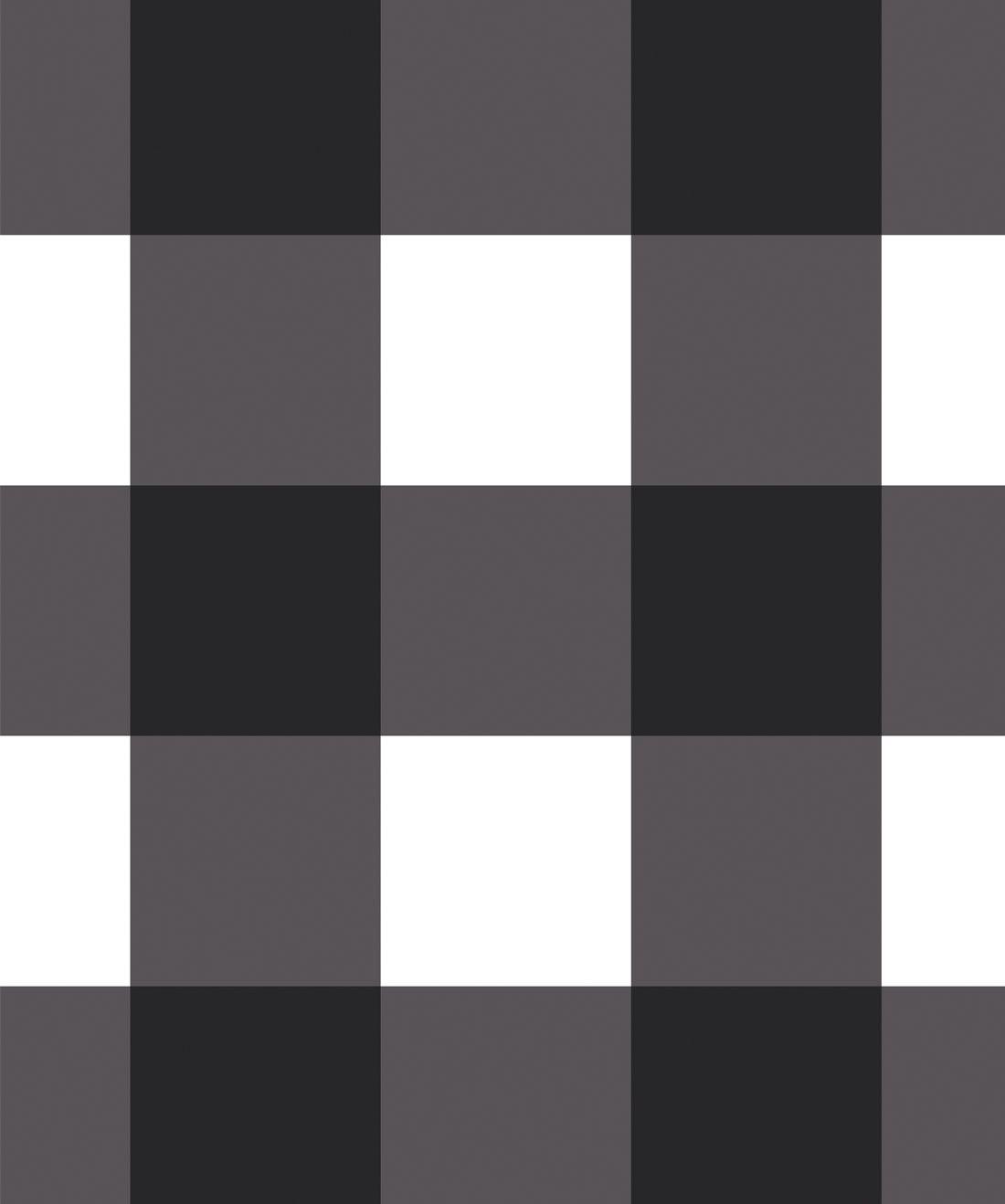 Mel's Buffalo Check Wallpaper • Black & White Plaid Wallpaper Swatch