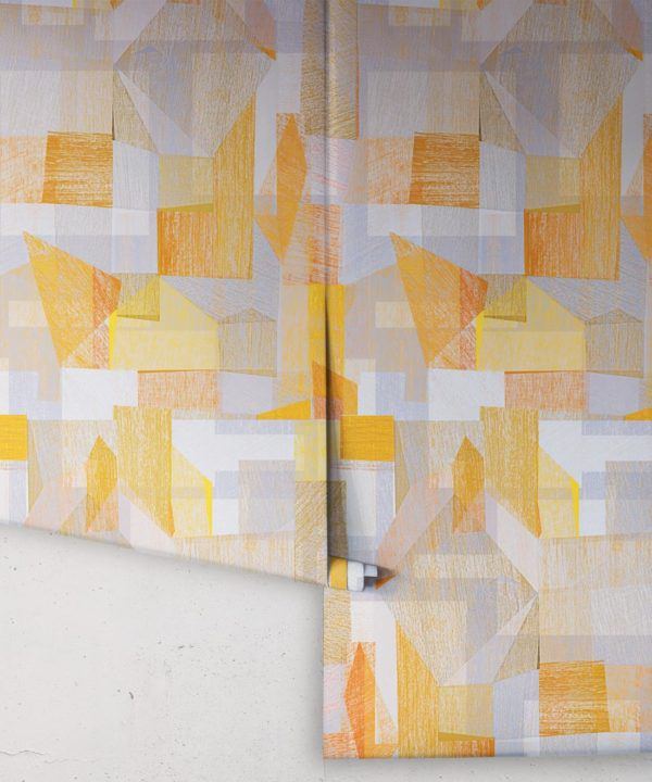 Chimera Wallpaper by Simcox • Color Yellow • Abstract Wallpaper • Geometric Wallpaper • rolls