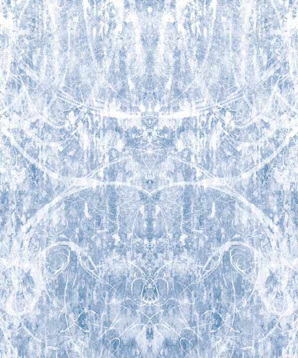 Hori Wallpaper by Simcox • Color Blue • Abstract Wallpaper • Swatch