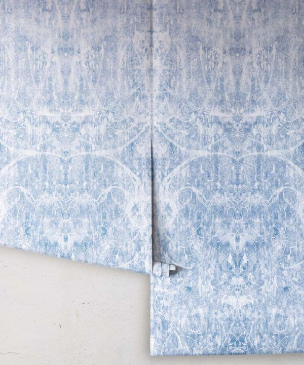 Hori Wallpaper by Simcox • Color Blue • Abstract Wallpaper • rolls