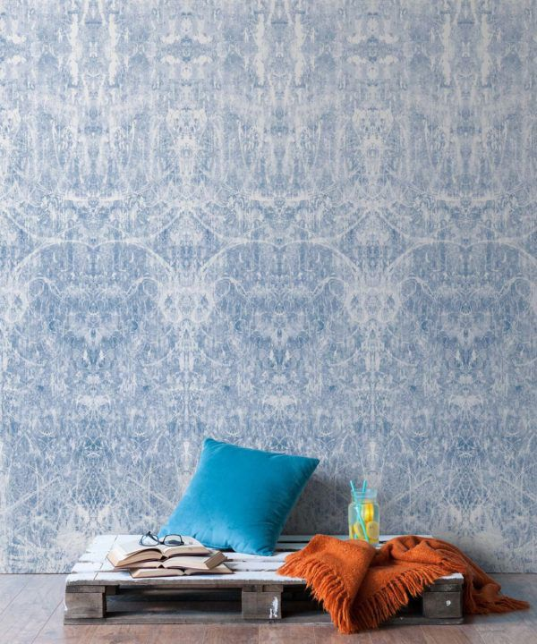 Hori Wallpaper by Simcox • Color Blue • Abstract Wallpaper • insitu