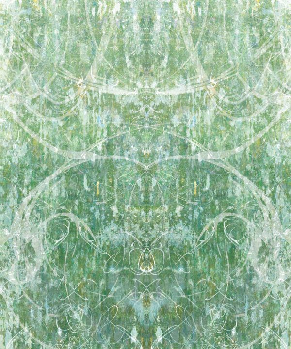 Hori Wallpaper by Simcox • Color Green • Abstract Wallpaper • swatch