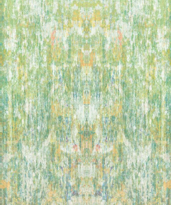 Patina Wallpaper by Simcox • Color Moss • Abstract Wallpaper • swatch