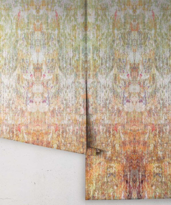 Patina Wallpaper by Simcox • Color Earth • Abstract Wallpaper • rolls