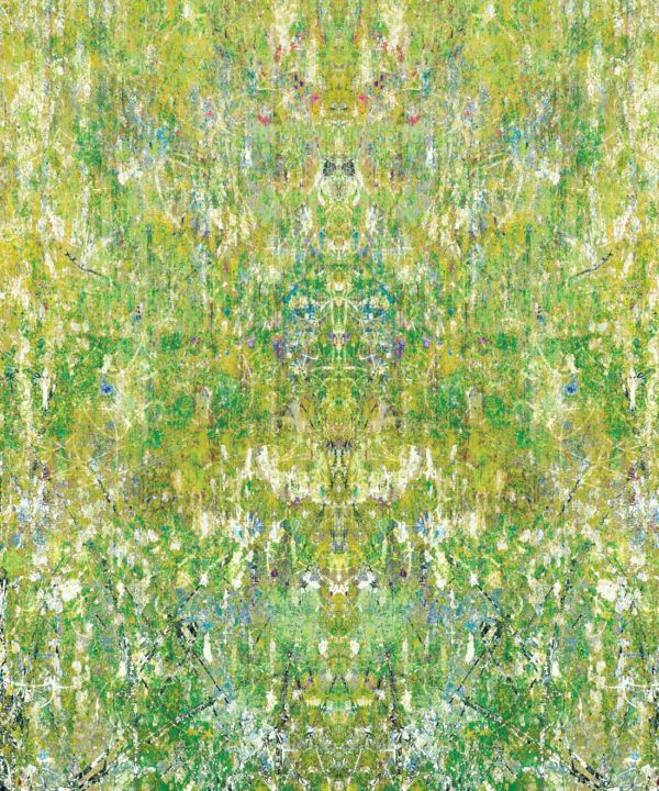 Ramose Wallpaper by Simcox • Color Moss • Abstract Wallpaper • swatch
