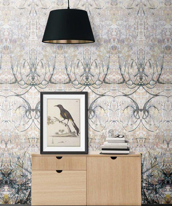 Ramose Wallpaper by Simcox • Color original • Abstract Wallpaper • insitu