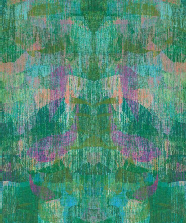 Camoufleur Wallpaper • Jungle • Green Purple Wallpaper • Abstract Wallpaper swatch
