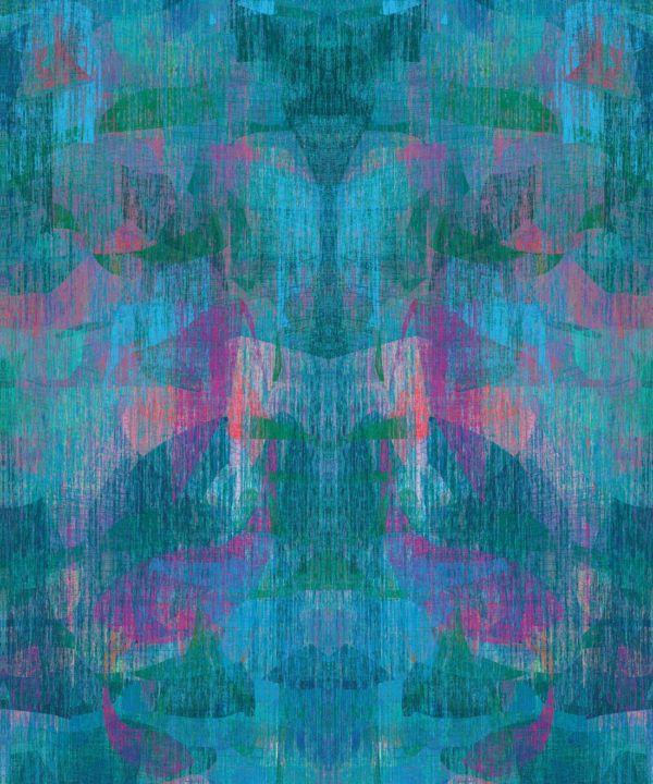 Camoufleur Wallpaper • Midnight • Blue Purple Wallpaper • Abstract Wallpaper swatch