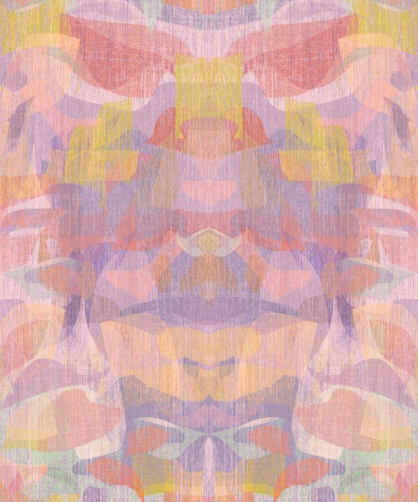 Camoufleur Wallpaper • Tangerine • Orange Wallpaper • Abstract Wallpaper swatch