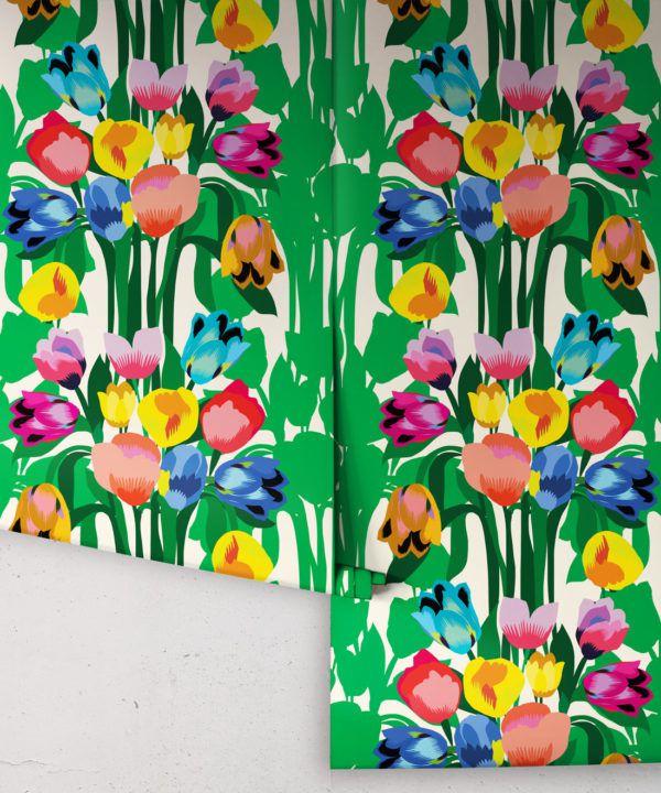 Kyoto Wallpaper • Kimono Wallpaper • Japanese Wallpaper • Deep Colorful Wallpaper • Rolls