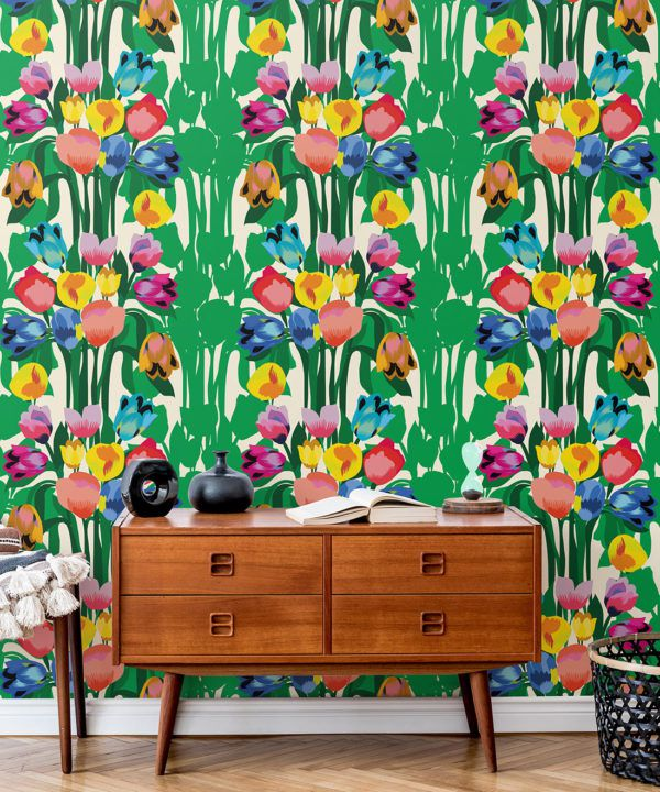 Kyoto Wallpaper • Kimono Wallpaper • Japanese Wallpaper • Deep Colorful Wallpaper • Insitu