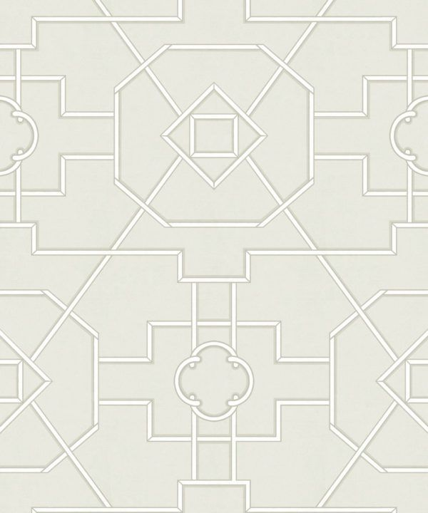 Trellis Wallpaper • Geometric Wallpaper • Beige Wallpaper • Swatch