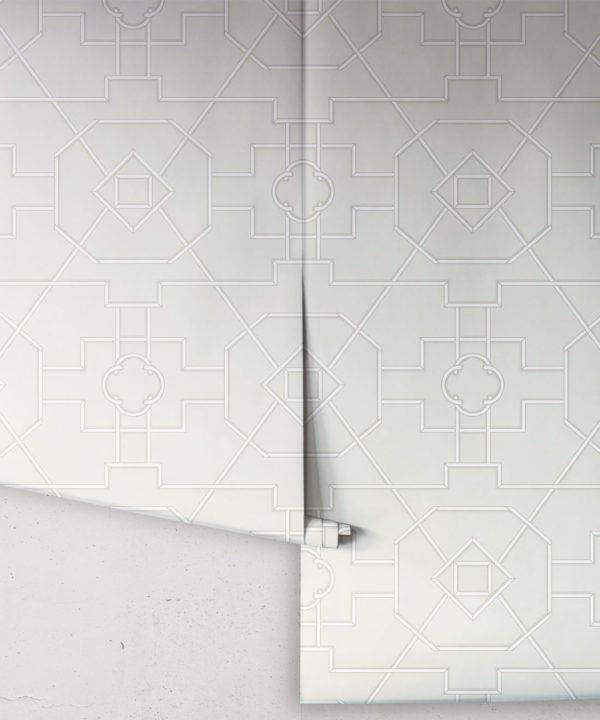 Trellis Wallpaper • Geometric Wallpaper • Beige Wallpaper • Rolls