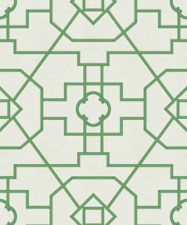 Trellis Wallpaper • Geometric Wallpaper • Ivory Wallpaper • Swatch