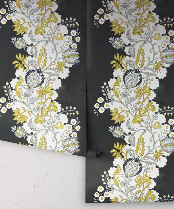 Pomegranate Wallpaper • Charcoal • Rolls
