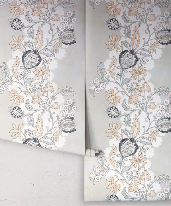 Pomegranate Wallpaper • salmon • rolls