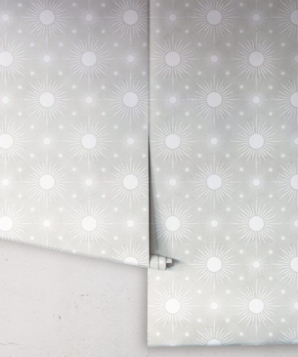 Sun Light Star Bright Wallpaper • Beige • Rolls