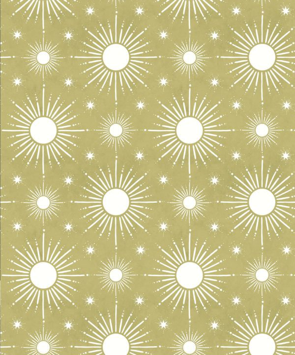 Sun Light Star Bright Wallpaper • Chartreuse • Swatch