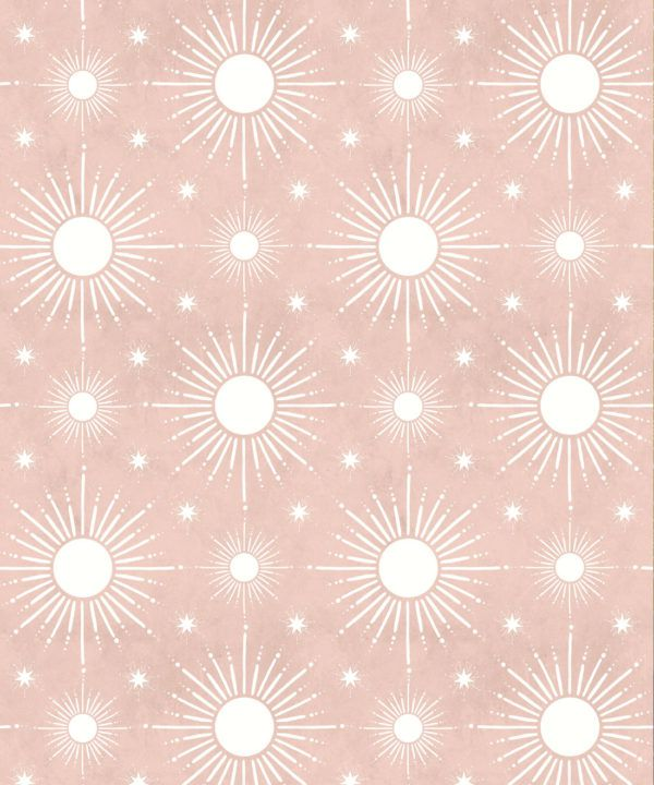 Sun Light Star Bright Wallpaper • Dusty Pink • Swatch