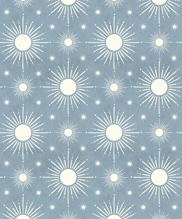 Sun Light Star Bright Wallpaper • French Blue• Swatch