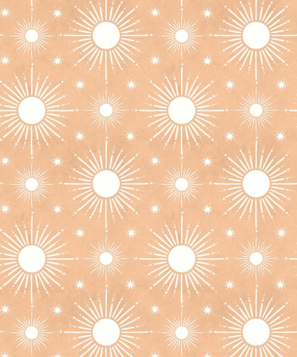 Sun Light Star Bright Wallpaper • Salmon• Swatch