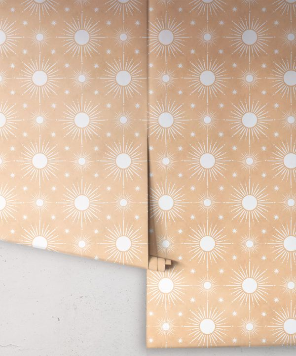 Sun Light Star Bright Wallpaper • Salmon• Rolls