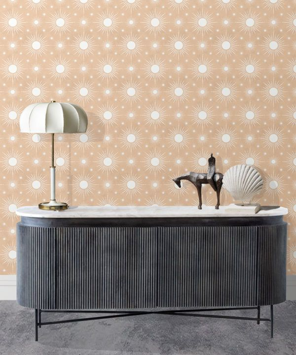 Sun Light Star Bright Wallpaper • Salmon• Insitu