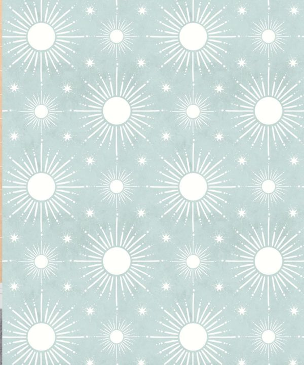Sun Light Star Bright Wallpaper • Sea Spray • Swatch